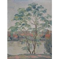 l'arbre au bord de la rivière by charles jean-mairet