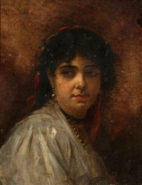 portrait of a peasant girl by léon joseph florentin bonnat