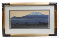 kilimanjaro, evening by toshi yoshida