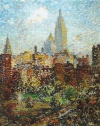 washington square park by george raab