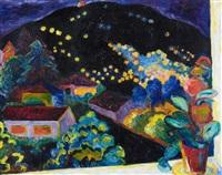 der dunkle berg und die lichter by andre alexeyevich jawlensky
