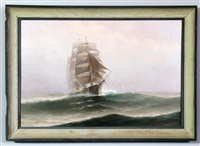 ship in sea by theodore victor carl valenkamph