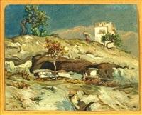 südländische landschaft by emile serda