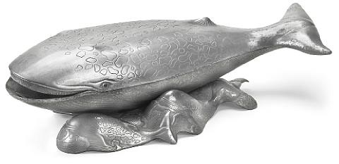 a whale tureen from sealife by arthur court