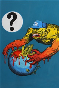 los angeles dodgers versus san francisco giants by sandow birk