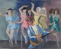 guitar player and dancers by eric e. goldberg