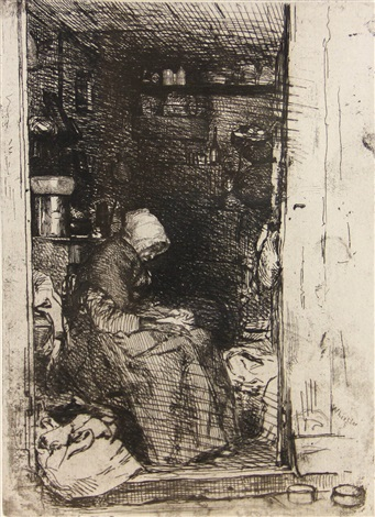 la vieille au loques from twelve etchings from nature series by james abbott mcneill whistler