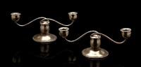 two-arm candlesticks (pair) by allan adler
