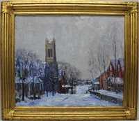 view of sellersville, pa/ winter by walter emerson baum