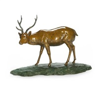 a striding stag by yoshinori
