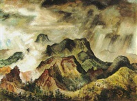 mist in the mountains, 1941 by david fredenthal