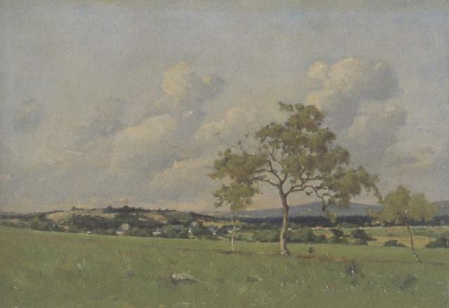weite landschaft by henri linguet