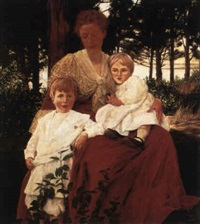 mrs. hoyt and children by william sergeant kendall