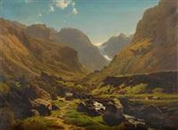 berglandschaft by joachim frich