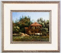 the cottage by charles (jean-ch. ferdinand) humbert