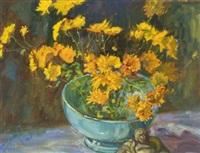 floral still life by david clayton drum