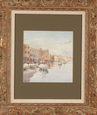 venetian canal scene by morgan colt