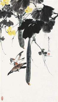 丝瓜麻雀 by qiao mu