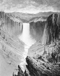 yellowstone falls by edward rufus hill