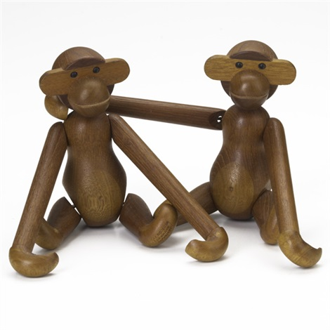 two monkeys by kay bojesen