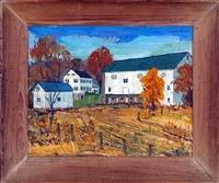 farm scene in wernersville, pa by william weldon swallow