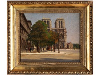 notre dame im herbst by jean leport