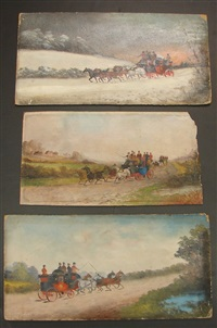 horse and carriage scenes (irgr; 3 works) by philip h. rideout