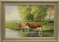 cows in a stream by annie m. snyder