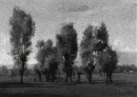 genfer landschaft mit weidengruppe by pierre pignolat