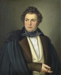portrait eines herrn by rudolf obrist