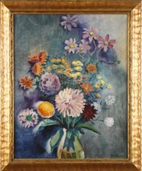 floral still life by george biddle