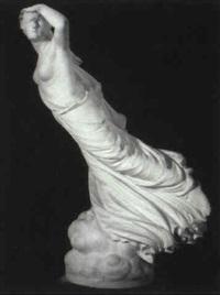 figure of a woman in flowing drapery by randolph john rogers