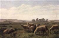 weidende schafe by edouard-louis-auguste metton