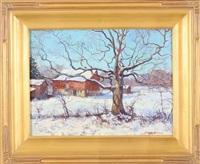 old oak tree - winter by tatiana alexeeva