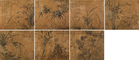 orchid and bamboo album w7 works by xia chang