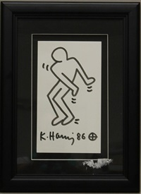dancing man by keith haring