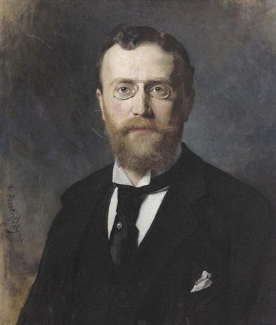 porträt eines bärtigen mannes by heinrich von angeli