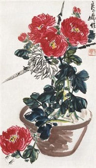 菊花蟋蟀 by qi liangsi