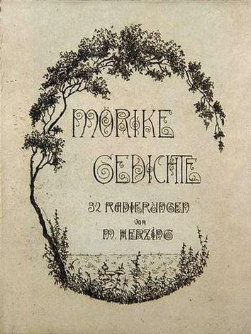 gedichte portfolio of 32 by eduard mörike