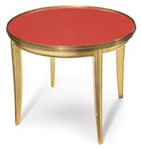 occasional table by jean rothschild and jean dunand