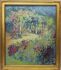 garden scene by harriette bowdoin