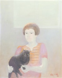 woman with a cat by jori smith