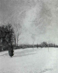 winter landscape by charles foster