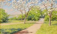 blommande äppelträd by johan fredrik krouthen