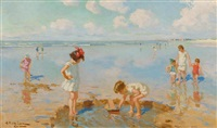 kinder am strand by charles garabed atamian