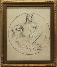 sketch of a reclining male figure by john singer sargent