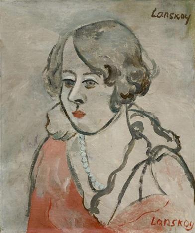 jeune femme by andré lanskoy