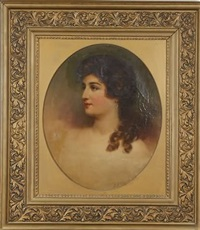 portrait of a young woman by samuel bell waugh