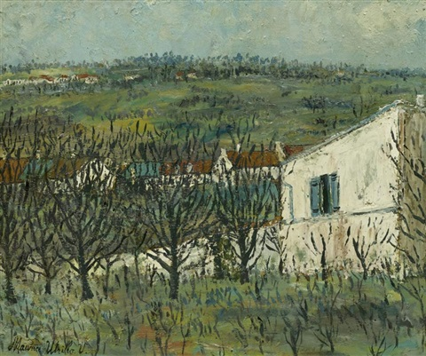 paysage à montmagny by maurice utrillo