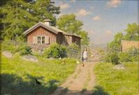 flickan vid grinden by johan fredrik krouthen